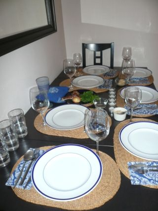 The table, before . . .